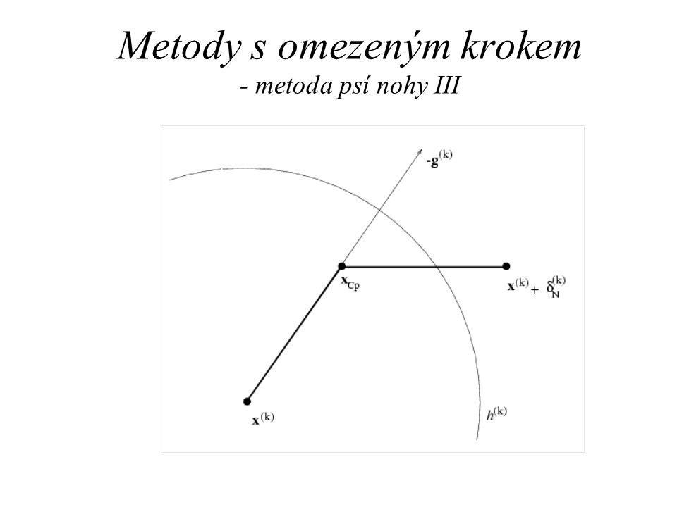 Metody s omezeným krokem - metoda psí nohy III