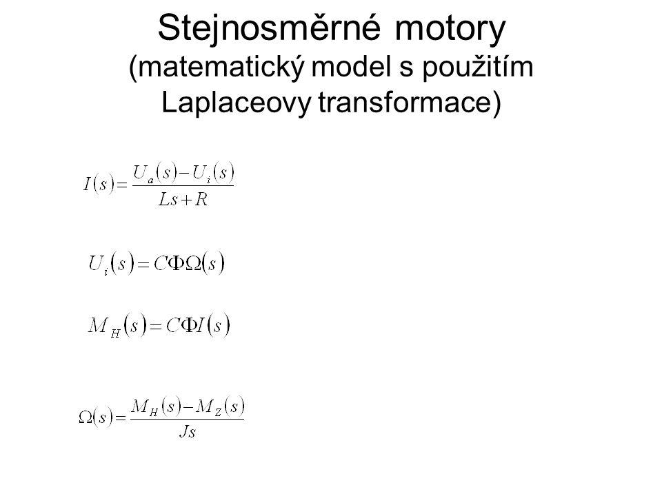 Stejnosměrné motory (matematický model s použitím Laplaceovy transformace)