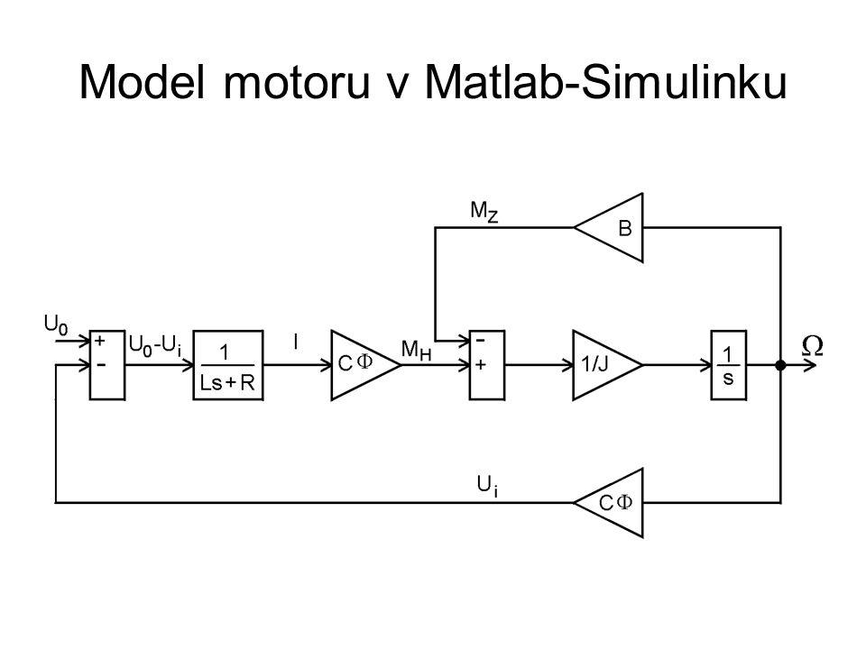 Model motoru v Matlab-Simulinku