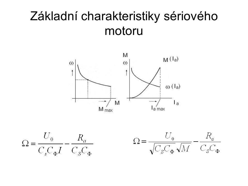 Základní charakteristiky sériového motoru