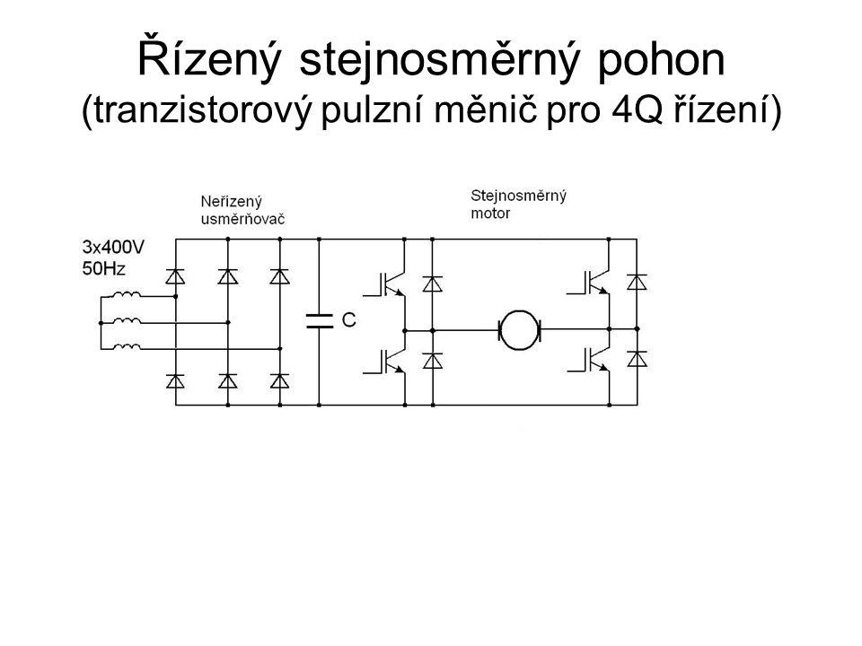 Řízený stejnosměrný pohon (tranzistorový pulzní měnič pro 4Q řízení)