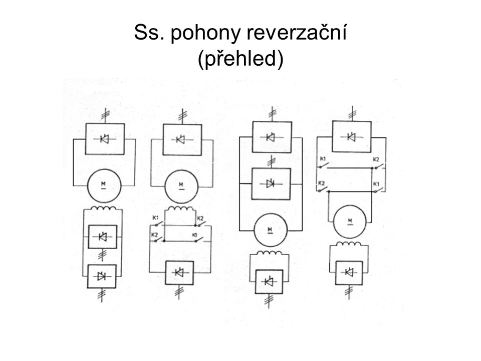 Ss. pohony reverzační (přehled)
