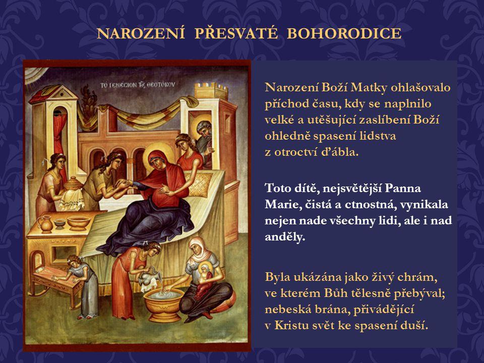 Modlitby svatých manželů byly vyslyšeny! Archanděl Gabriel k nim přišel a oznámil, že se jim narodí dcera, kterou bude celé lidstvo nazývat požehnanou