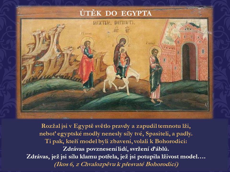 """Když Herodes umřel, anděl se opět ukázal ve snu Josefovi v Egyptě a řekl: """"Vstaň, vezmi dítě i jeho matku a jdi do země izraelské, neboť již zemřeli t"""