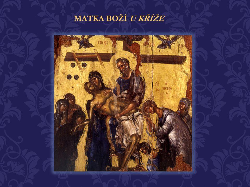 Jak snášela tíhu toho, když viděla svého Syna a Boha trpět na kříži.. Jedinou útěchou jí byla víra ve vzkříšení svého Syna a její důvěra a pokorné při