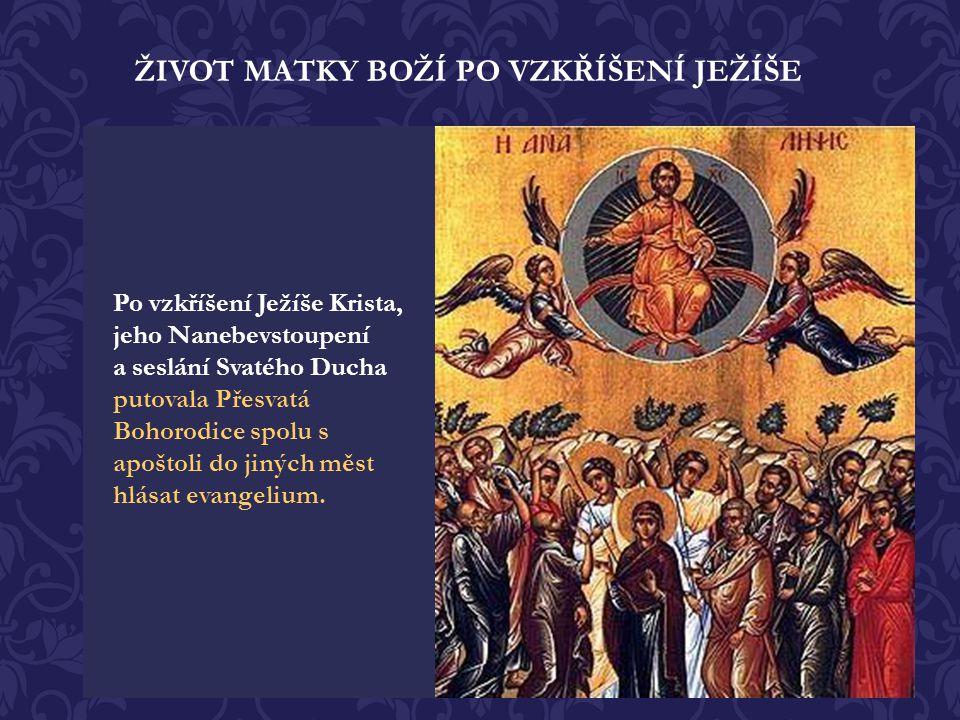 Nelkej nade mnou, ó Máti, vidouc v hrobě Syna, jehož jsi v životě bez semene počala. Neboť vstanu a proslavím se a povznesu jako Bůh ve slávě ty, kdož