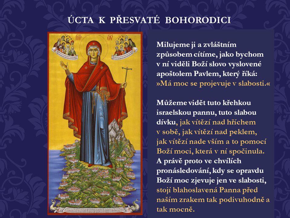 Když chtěla navštívit vzkříšeného Lazara, který byl biskupem na ostrově Kypr.