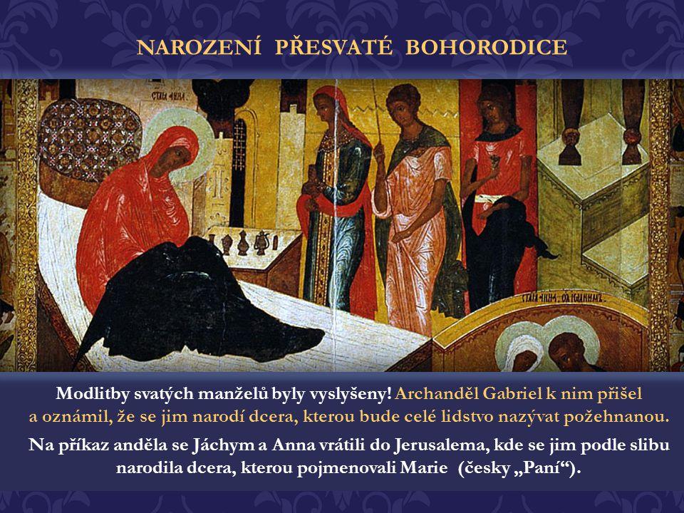 Jednou, v době velikého svátku, přinesl Jáchym do Jerusalema oběť Bohu, ale kněz ji nepřijal. To starce velmi zarmoutilo a odešel na osamocené místo v