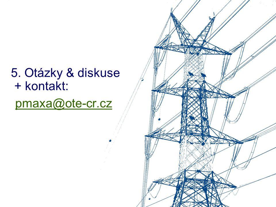 5. Otázky & diskuse + kontakt: pmaxa@ote-cr.cz pmaxa@ote-cr.cz
