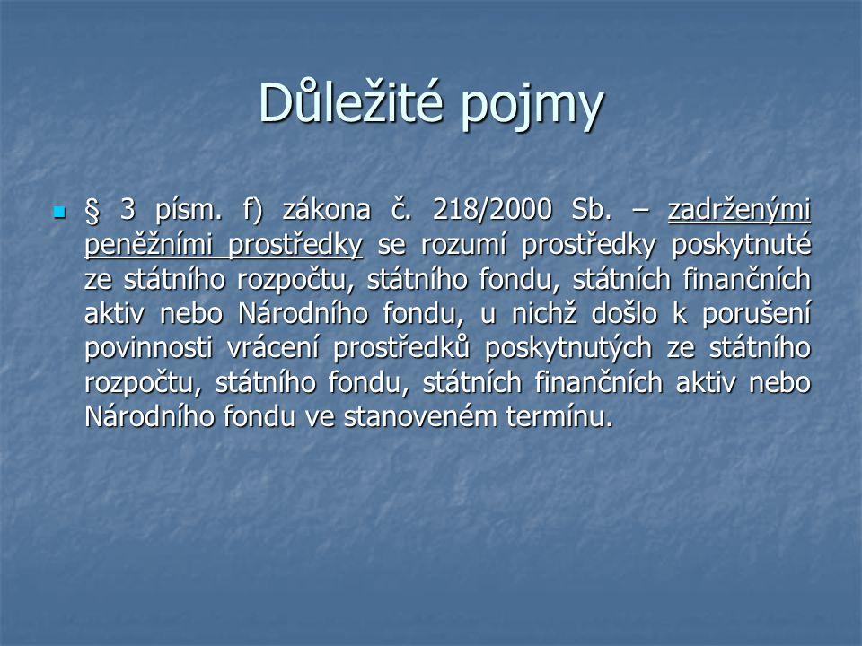 Porušení rozpočtové kázně a její důsledky  § 44 zákona č.