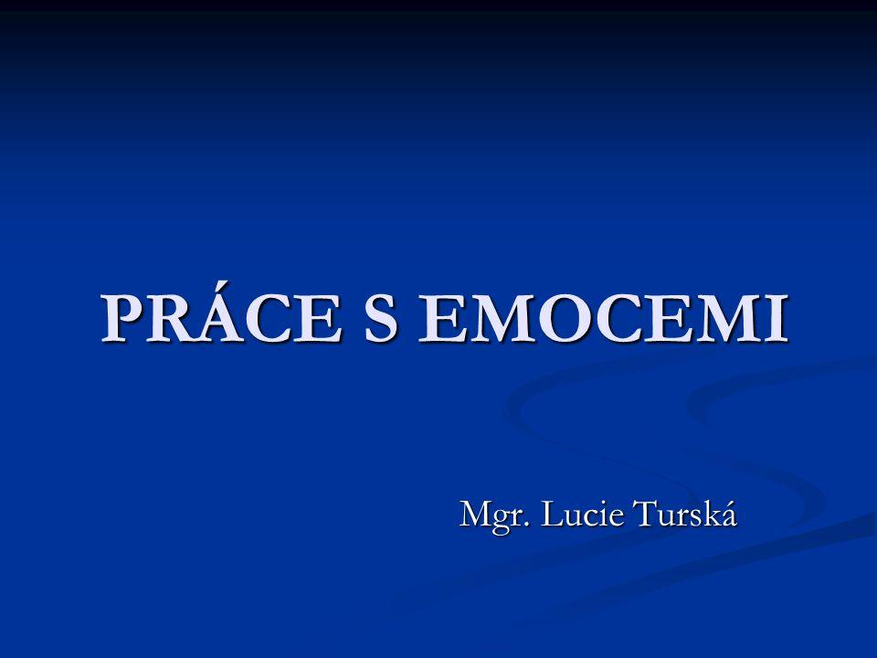 PRÁCE S EMOCEMI Mgr. Lucie Turská