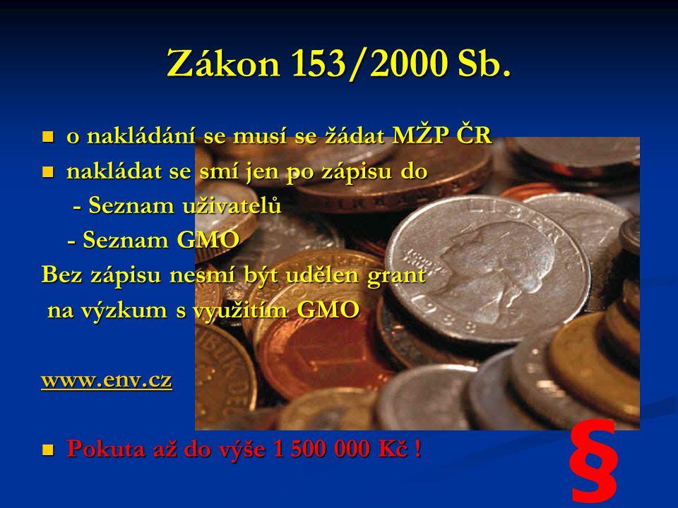 Zákon 153/2000 Sb.