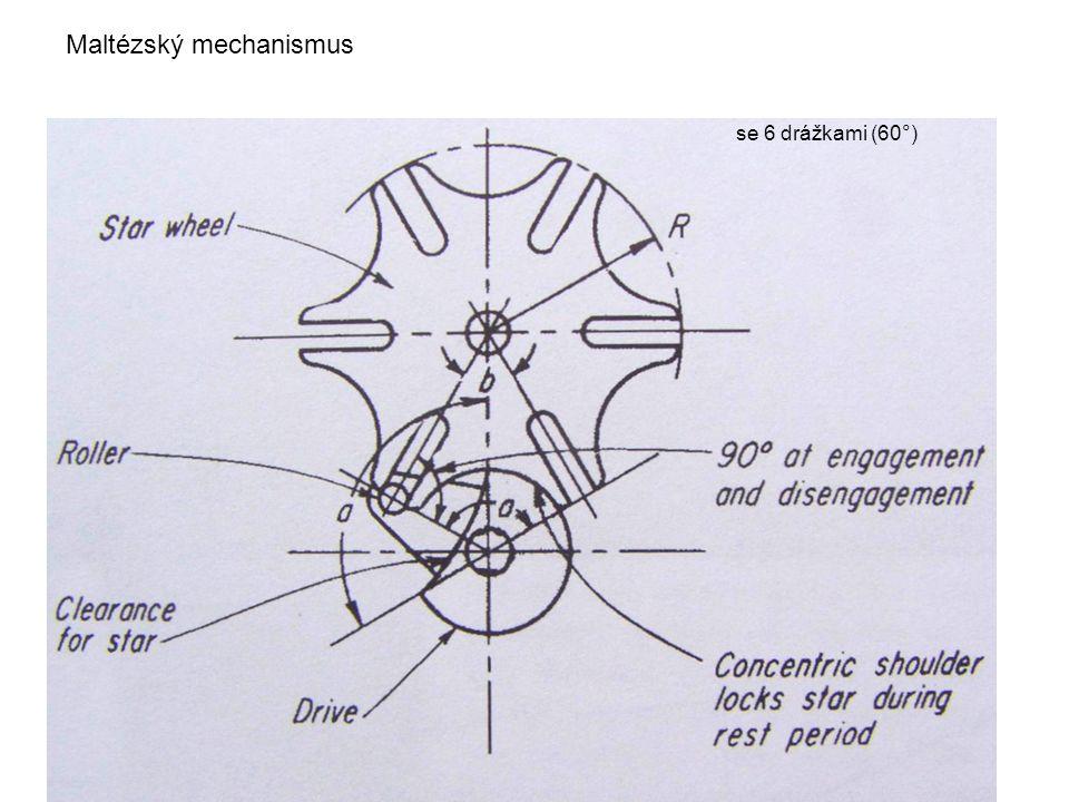 Maltézský mechanismus se 6 drážkami (60°)