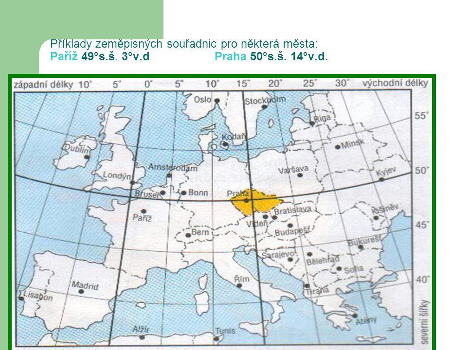 SP: Pracuj s Atlasem str.106 -107 a doplň tabulku souřadnicemísto Moře32°s.š.