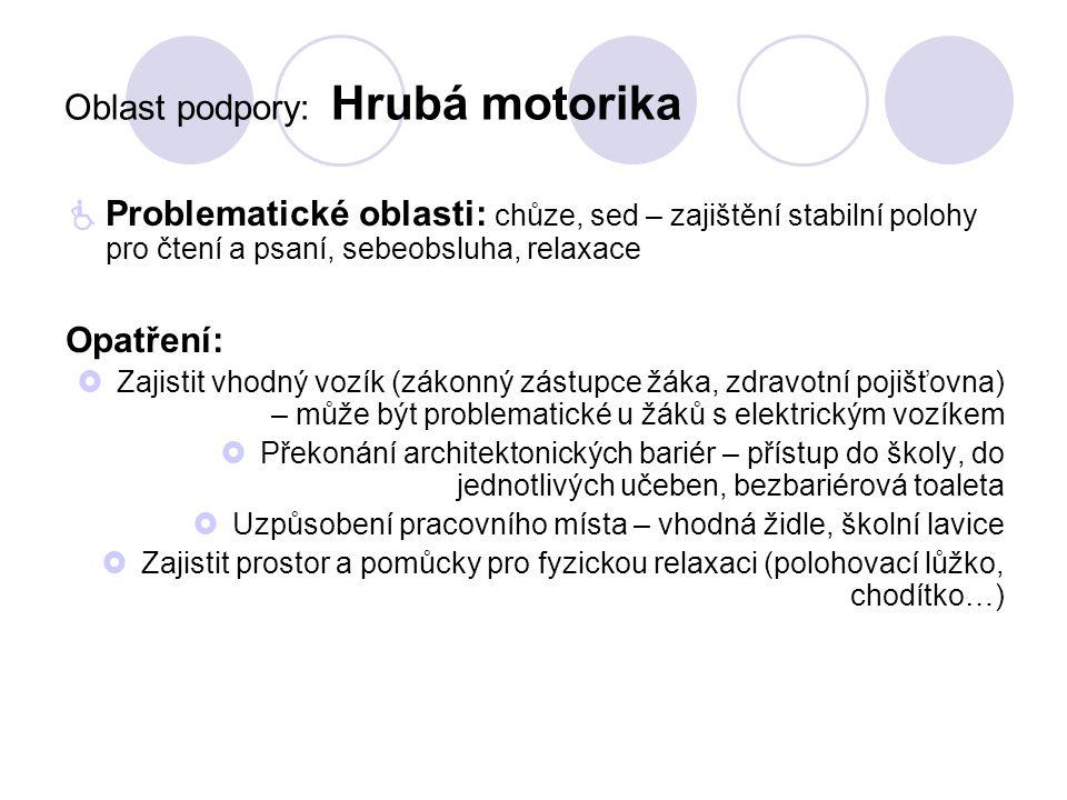 Jemná motorika - pomůcky  Nůžky se snadným úchytem – cena cca 300,-  Protiskluzová podložka – cena od několika set po několik tisíc korun  Držáky na knihy – do tisíce korun http://www.obchudek1.cz/cesky-obchudek/eshop/87- 1-Pro-telesne-postizene/0/5/3054-Nuzky-se- snadnym-uchytem-spicate http://www.obchudek1.cz/cesky-obchudek/eshop/87-1-Pro-telesne- postizene/0/5/2567-Drzak-na-knihy http://pomuckyzdravotnicke.cz/podlozka-protiskluzova- 758.html