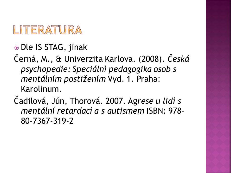  Dle IS STAG, jinak Černá, M., & Univerzita Karlova.