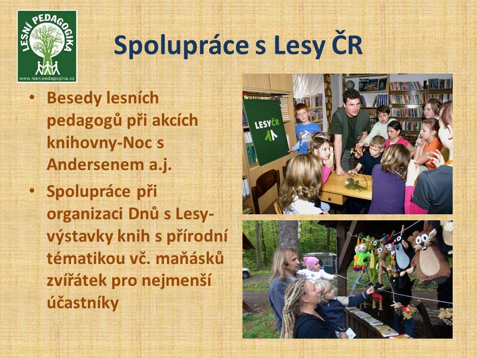 Spolupráce s Lesy ČR • Besedy lesních pedagogů při akcích knihovny-Noc s Andersenem a.j.