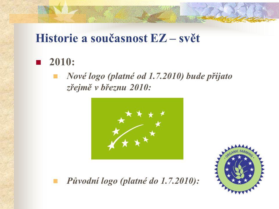 Historie a současnost EZ – svět  2010:  Nové logo (platné od 1.7.2010) bude přijato zřejmě v březnu 2010:  Původní logo (platné do 1.7.2010):