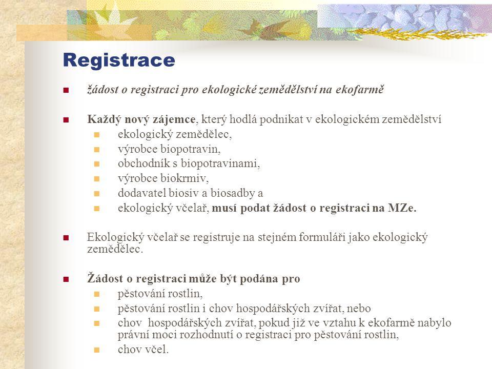 Registrace  žádost o registraci pro ekologické zemědělství na ekofarmě  Každý nový zájemce, který hodlá podnikat v ekologickém zemědělství  ekologi