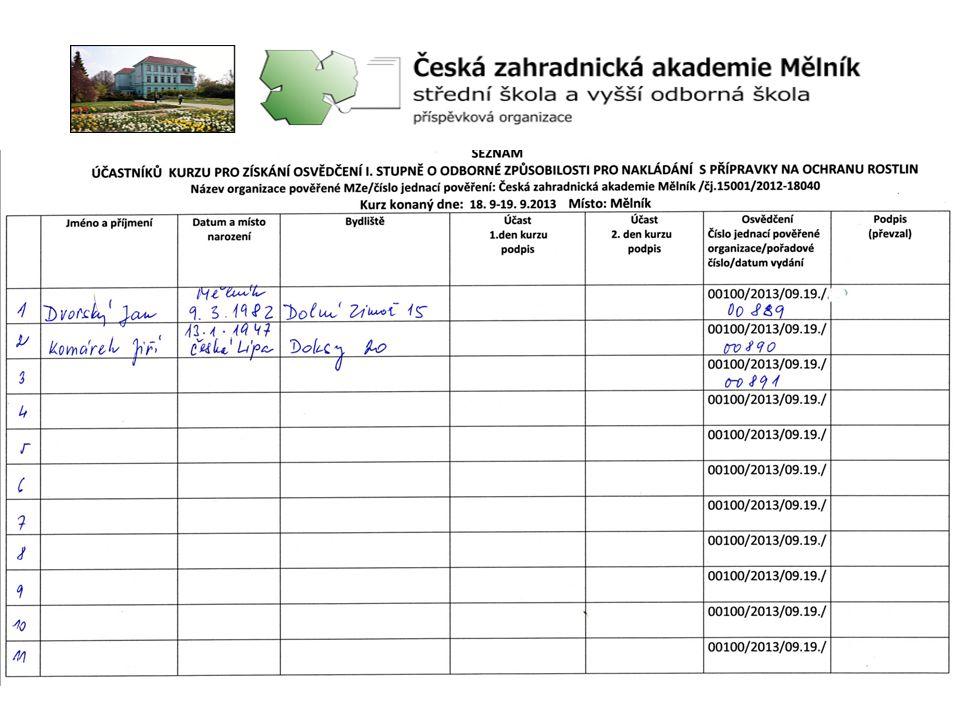 Zveřejňování termínu kurzů: •na webových stránkách školy www.zas-me.cz jsou uvedeny další kurzy •informování prostřednictvím oddělení SRS •E-mailem zasílání pozvánek na zemědělské podniky a soukromníky •na stránkách SRS- odborná způsobilost – seznam aktuálních školení