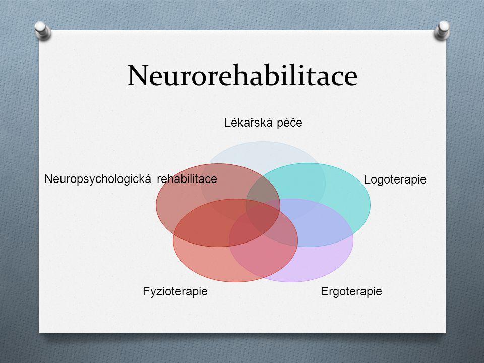 Neurorehabilitace Lékařská péče Logoterapie Ergoterapie Fyzioterapie Neuropsychologická rehabilitace