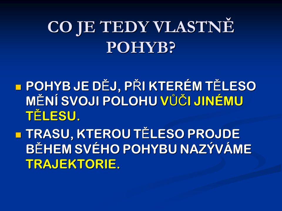 CO JE TEDY VLASTNĚ POHYB.