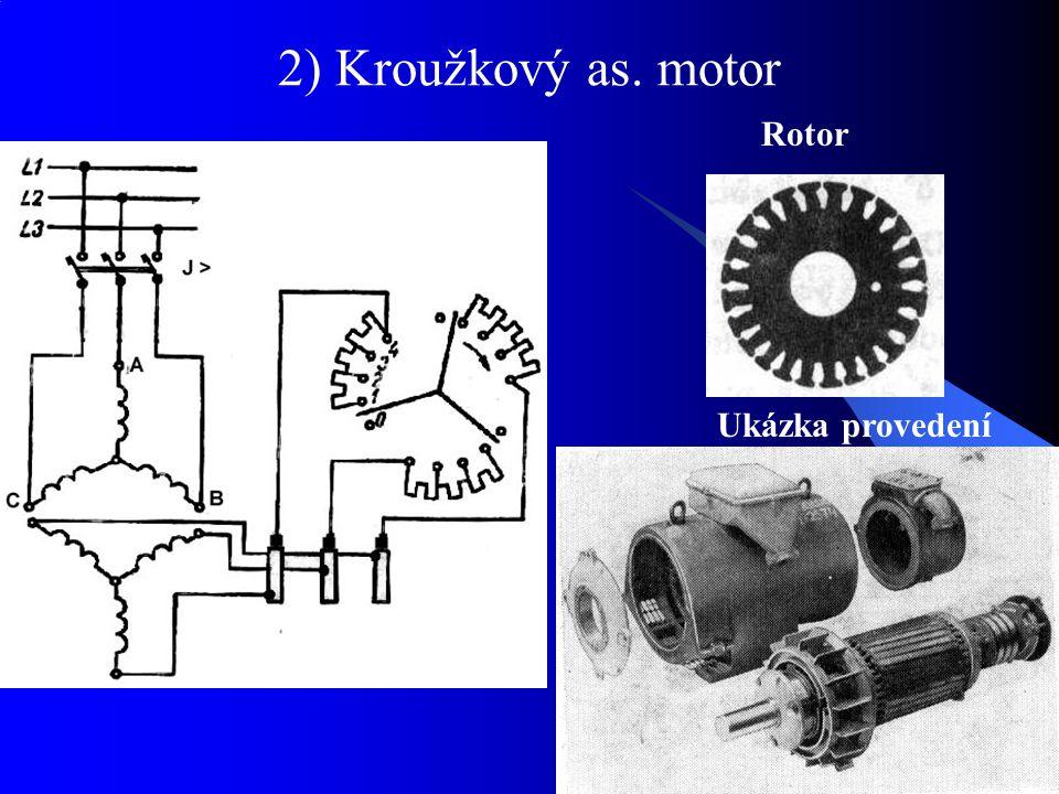 2) Kroužkový as. motor Rotor Ukázka provedení
