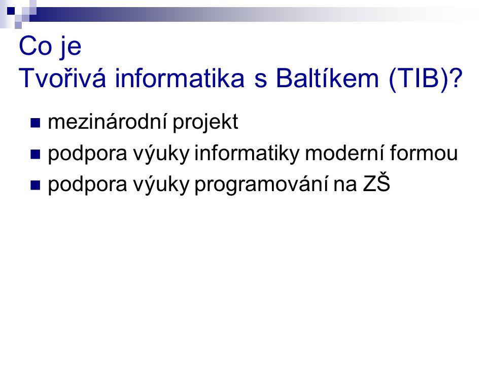 Co je Tvořivá informatika s Baltíkem (TIB).