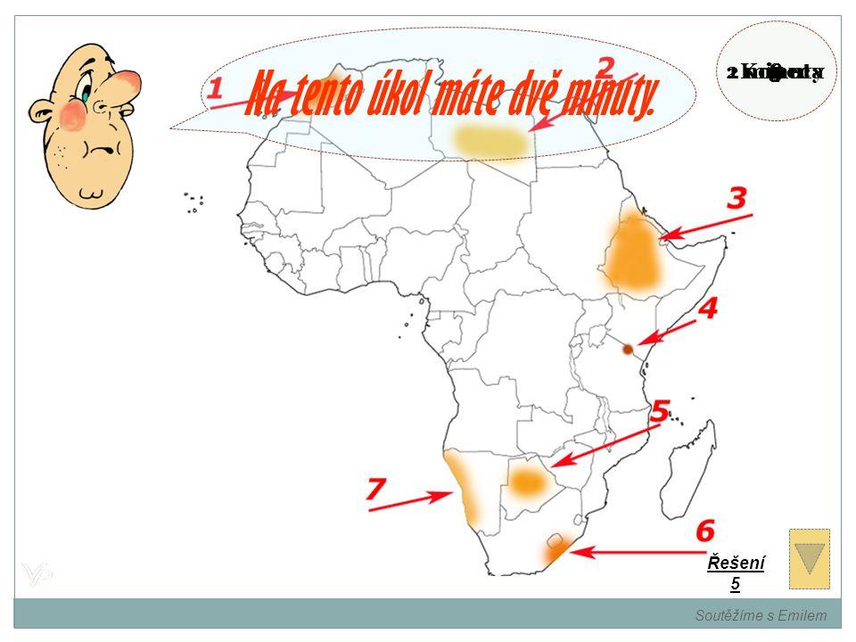 Pojmenujte vyznačená místa na mapě. Soutěžíme s Emilem