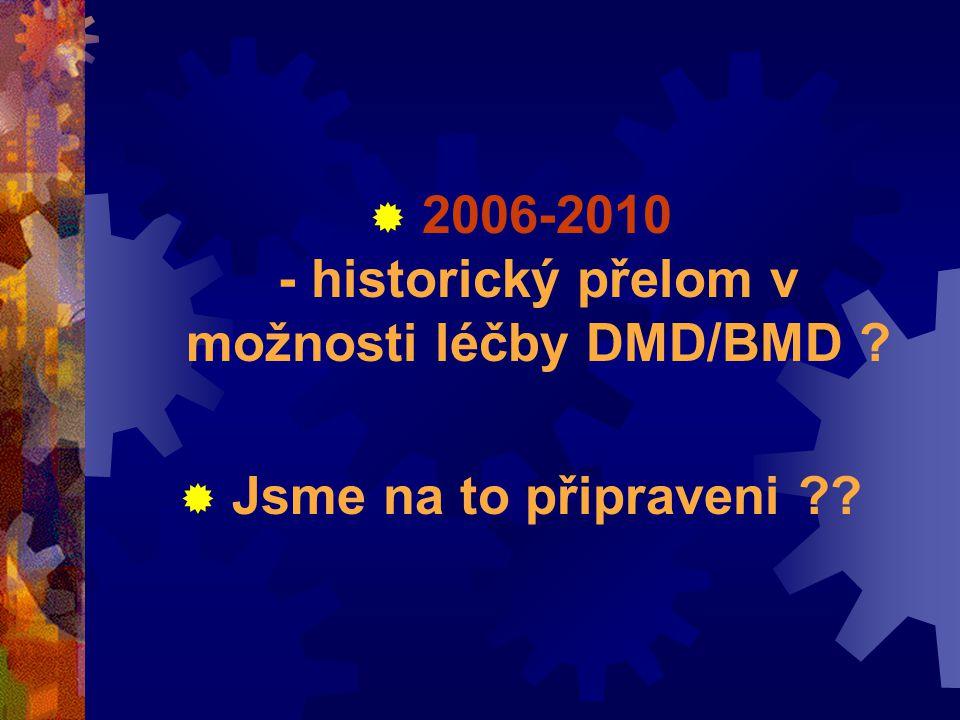  2006-2010 - historický přelom v možnosti léčby DMD/BMD  Jsme na to připraveni