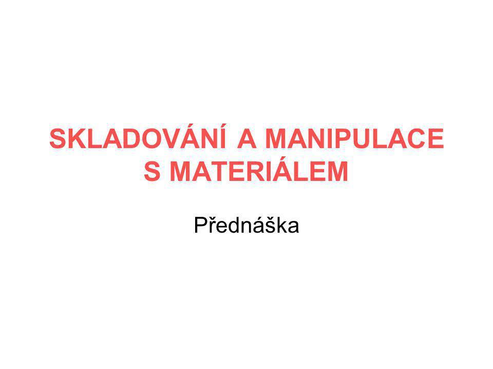 SKLADOVÁNÍ A MANIPULACE S MATERIÁLEM Přednáška