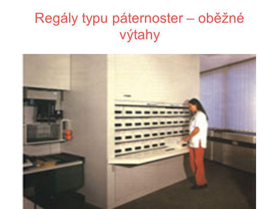 Regály typu páternoster – oběžné výtahy