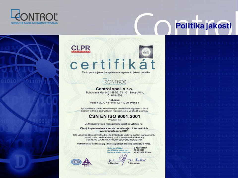 Konfigurátor výrobku  zpracování cenové kalkulace  založení objednávky  evidence objednávek  generování výrobních zakázek  stanovení termínu expedice