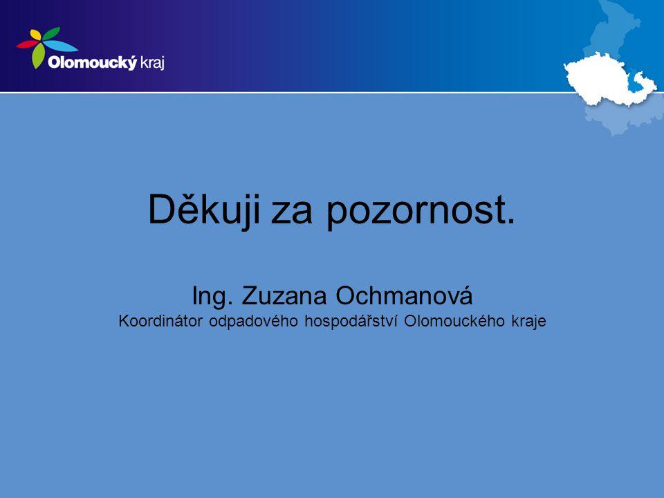 Děkuji za pozornost. Ing. Zuzana Ochmanová Koordinátor odpadového hospodářství Olomouckého kraje