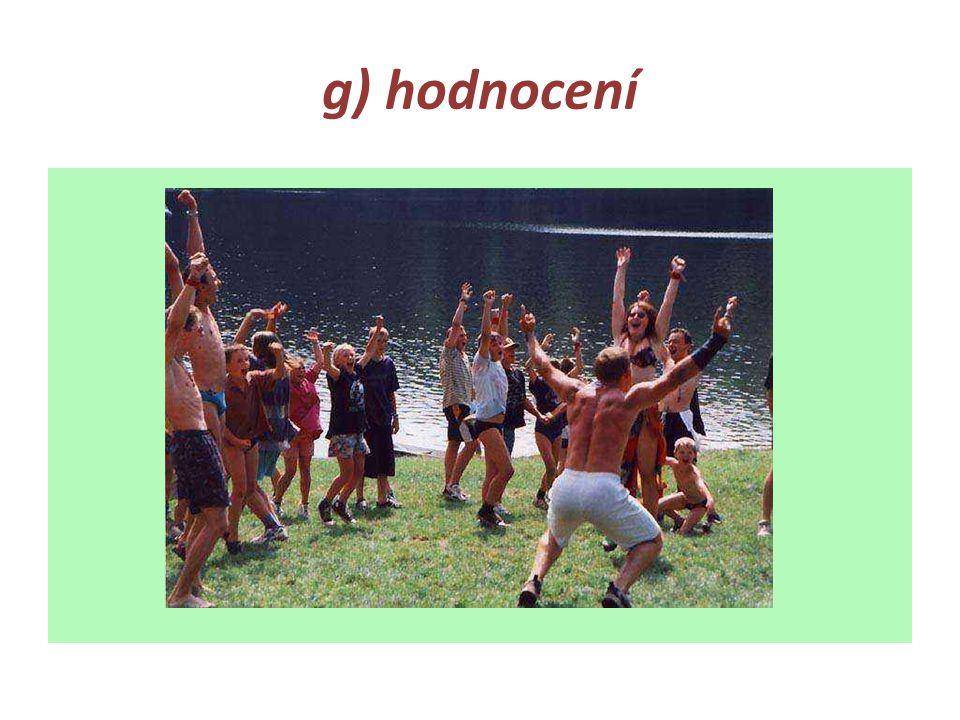 g) hodnocení