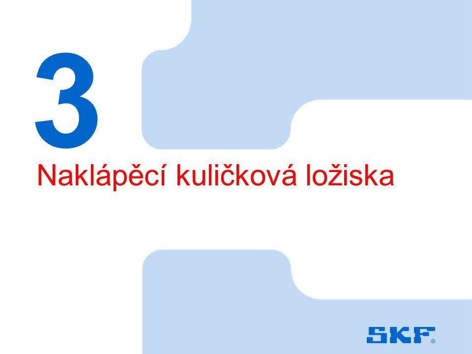October 30, 2007 © SKF Group Slide 35 3 Naklápěcí kuličková ložiska
