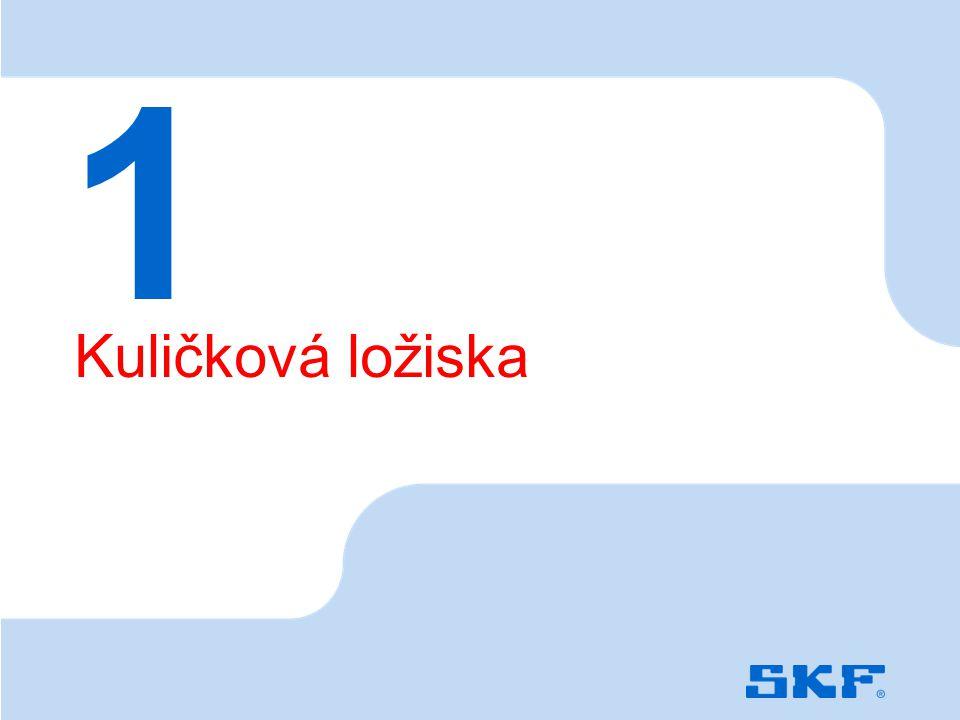 October 30, 2007 © SKF Group Slide 3 Kuličková ložiska 1