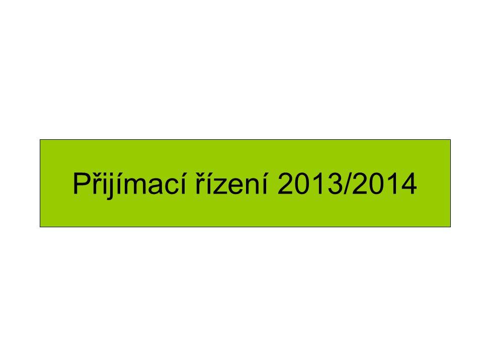 Přijímací řízení 2013/2014