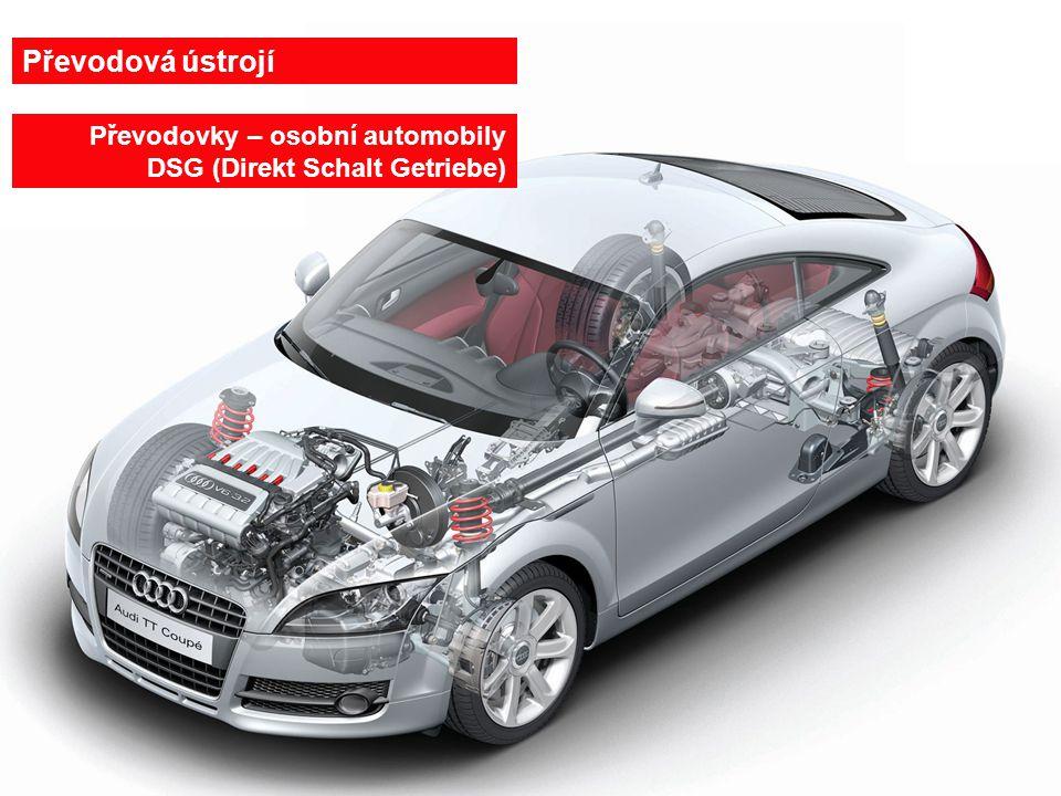 27.6.201429 Převodovka DSG pro osobní automobily 1-tlakový filter, 2-olejový chladič, 3-mechanická převodovka, 4-dvoukotočová spojka, 5-lamelová spojka, 6- hydrogenerátor, 7-sací filter 1 2 3 4 6 5 7 6 stupňové provedení 7 stupňové provedení Převodovky – osobní automobily DSG (Direkt Schalt Getriebe)