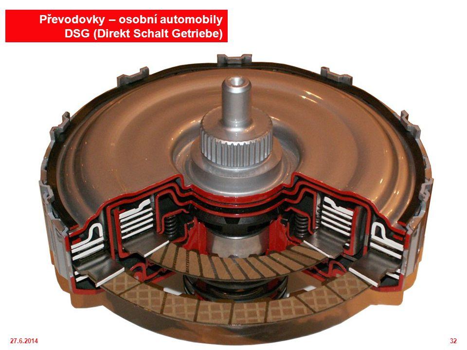 27.6.201433 Převodovky – osobní automobily DSG (Direkt Schalt Getriebe) – Twin Clutch SST (Sport Shift Transmission) – např.