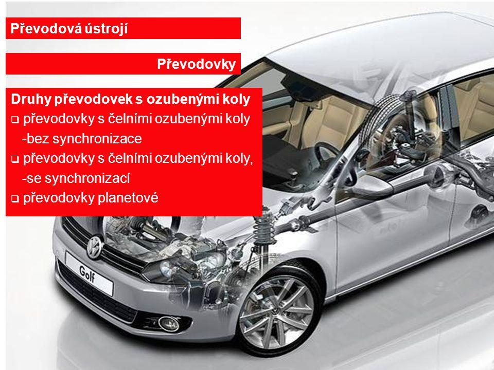 27.6.20146 Řazení přesunem ozubeného kola Převodová ústrojí Převodovky