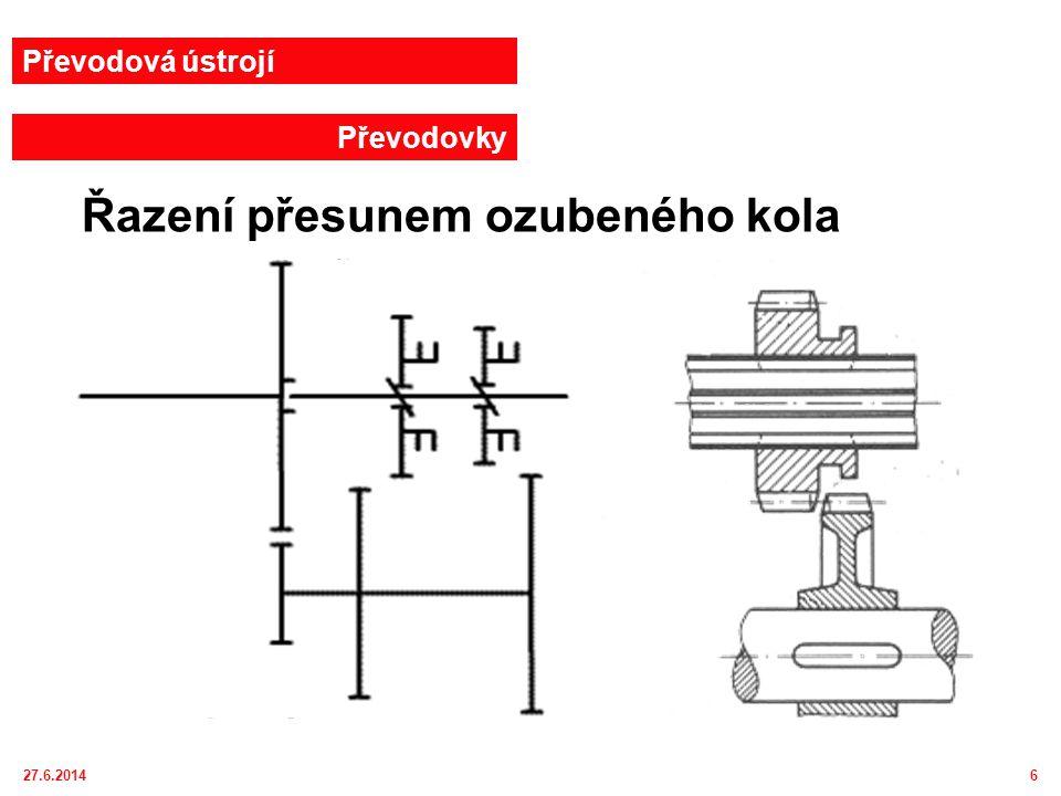 27.6.20147 Řazení zubovou spojkou Převodová ústrojí Převodovky