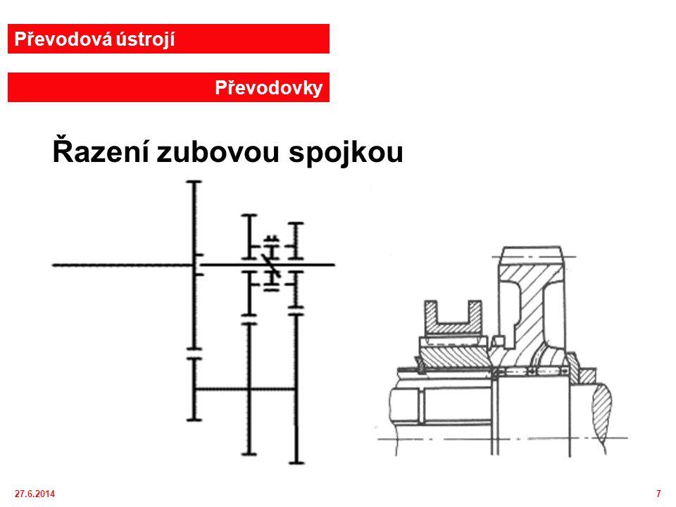 27.6.20148 Převodová ústrojí Převodovky Zubová spojka
