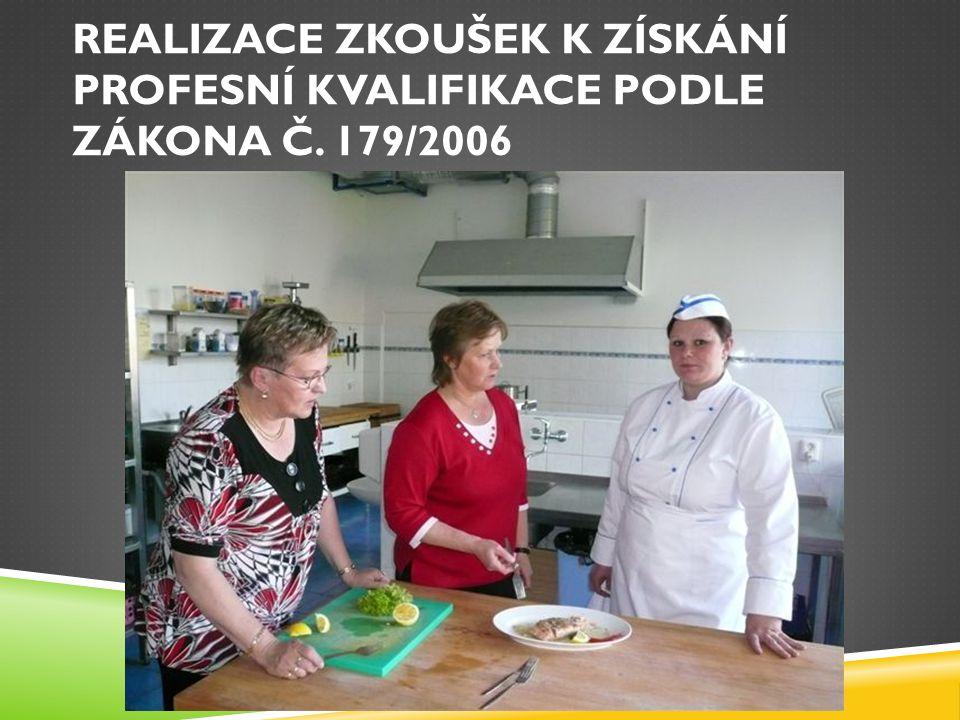 REALIZACE ZKOUŠEK K ZÍSKÁNÍ PROFESNÍ KVALIFIKACE PODLE ZÁKONA Č. 179/2006