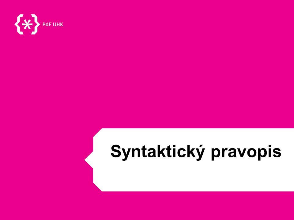 Syntaktický pravopis