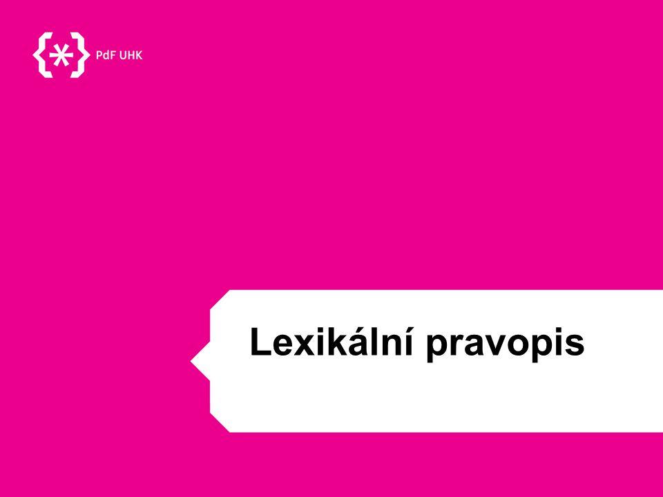 Lexikální pravopis