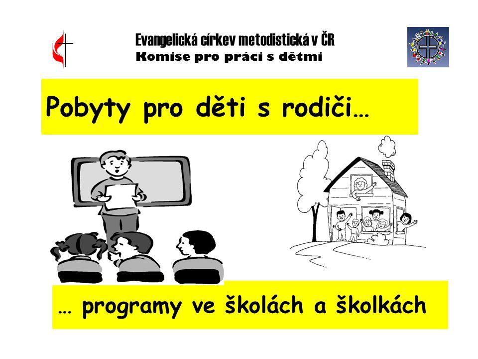 Evangelická církev metodistická v ČR Komise pro práci s dětmi Pobyty pro děti s rodiči… … programy ve školách a školkách