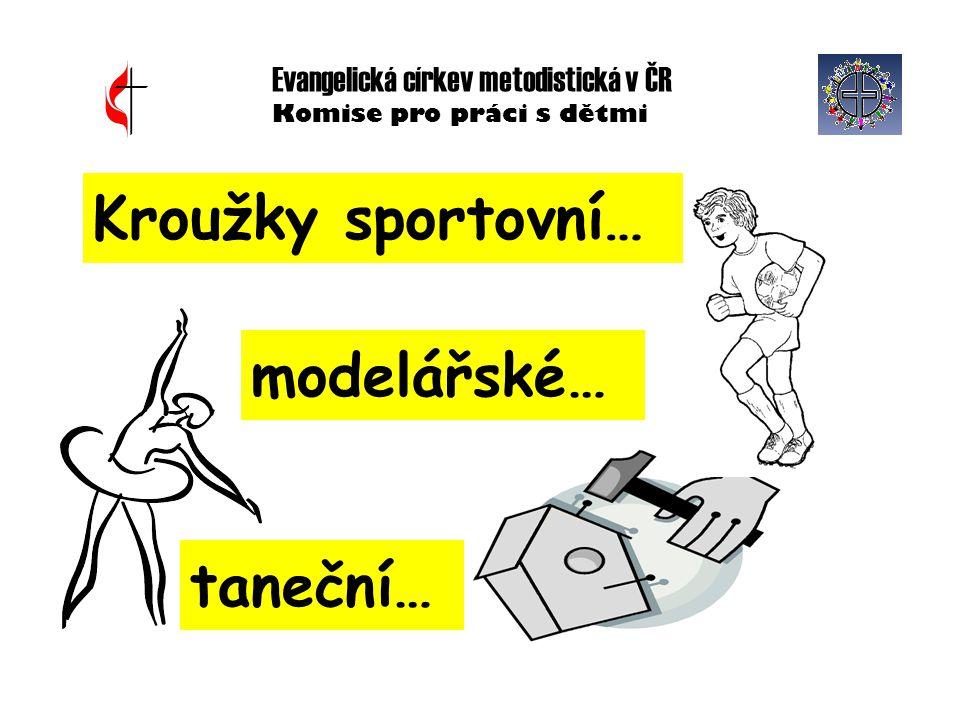Evangelická církev metodistická v ČR Komise pro práci s dětmi Kroužky sportovní… modelářské… taneční…