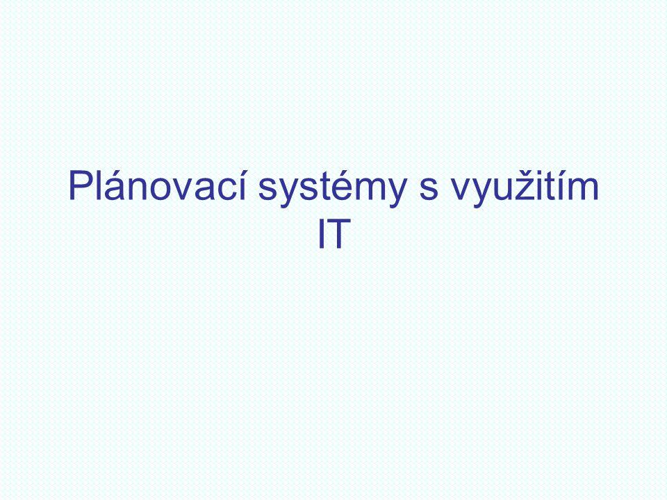 Plánovací systémy s využitím IT