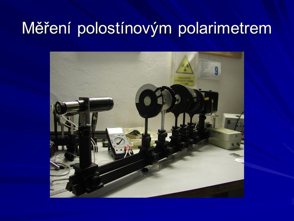 Měření polostínovým polarimetrem